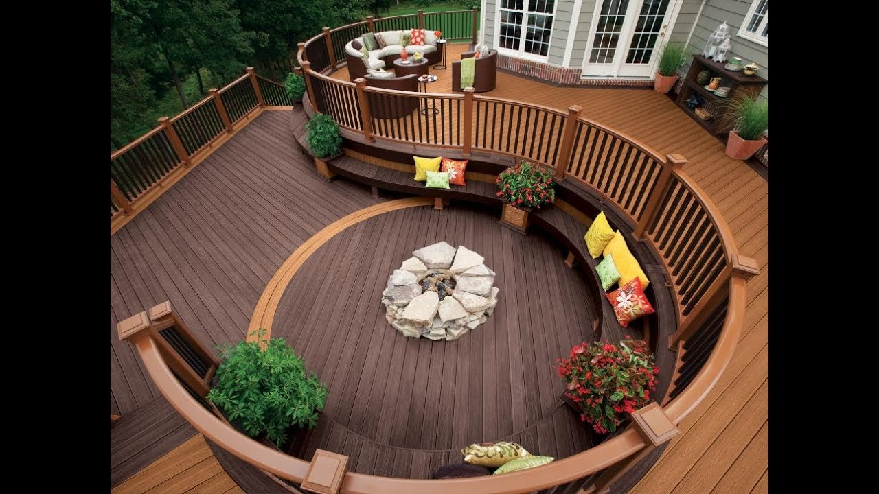 Deck Designs with Fire Pit - YouTube