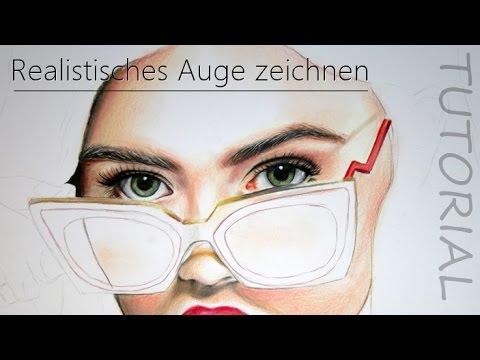 Realistisches Auge mit Buntstiften zeichnen | TUTORIAL