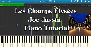 How To Play Les Champs Elysees On Piano Synthesia