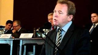 Europoseł Janusz Wojciechowski na debacie w Sandomierzu o polityce rolnej UE - 4 XI 2011 r.