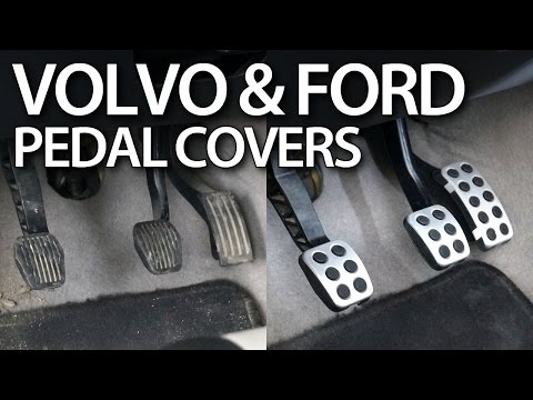 How to replace aluminum pedal covers in Volvo C30, S40, V50, C70, Ford Focus MK2 & MK3 (tuning)