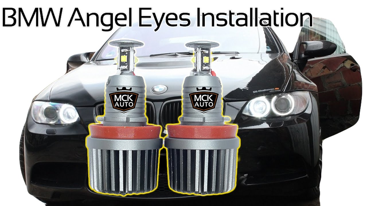 bmw e90 e92 3 series angel eyes replacement drl h8 halo. Black Bedroom Furniture Sets. Home Design Ideas