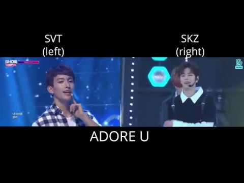 SVT x SKZ - Adore U // SPLIT AUDIO (USE EARPHONES!)