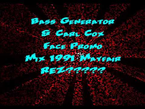 REZERECTION BASS GENERATOR CARL COX JOEY BELTRAM MAYFAIR NEWCASTLE 1991