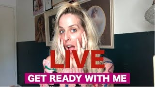 LIVE// GET READY WITH ME EVERYDAY MAKEUP AND HAIR FLIP