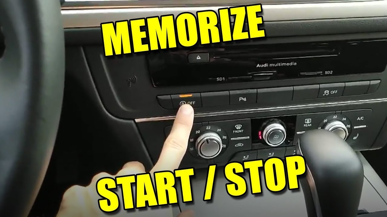 Disable Start/Stop with Memory Function Change Default Settings on Audi A6  C7 2016