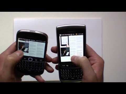 Blackberry bold 9900 vs Torch 9810 (browser speed test)