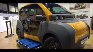 Electric Taxi with Battery Swap, 550kg, Adaptive City Mobility Prototype
