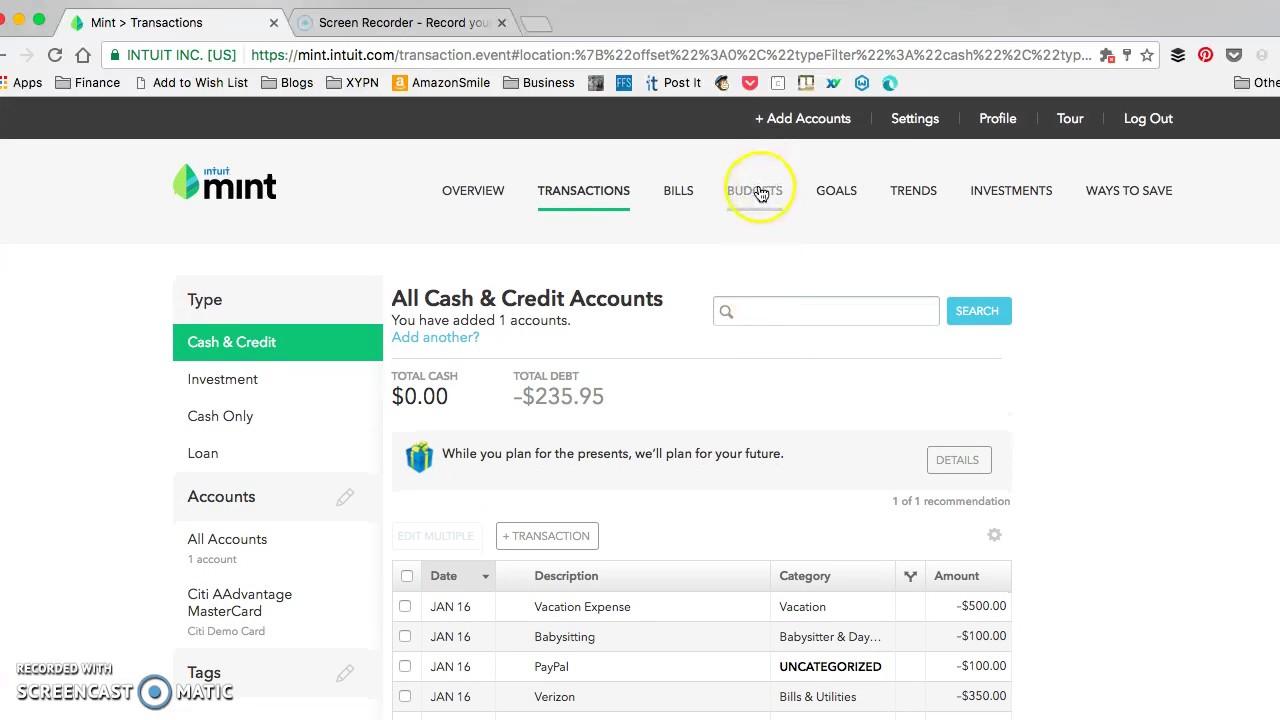 Best Practices For Using Mint: Split Transactions