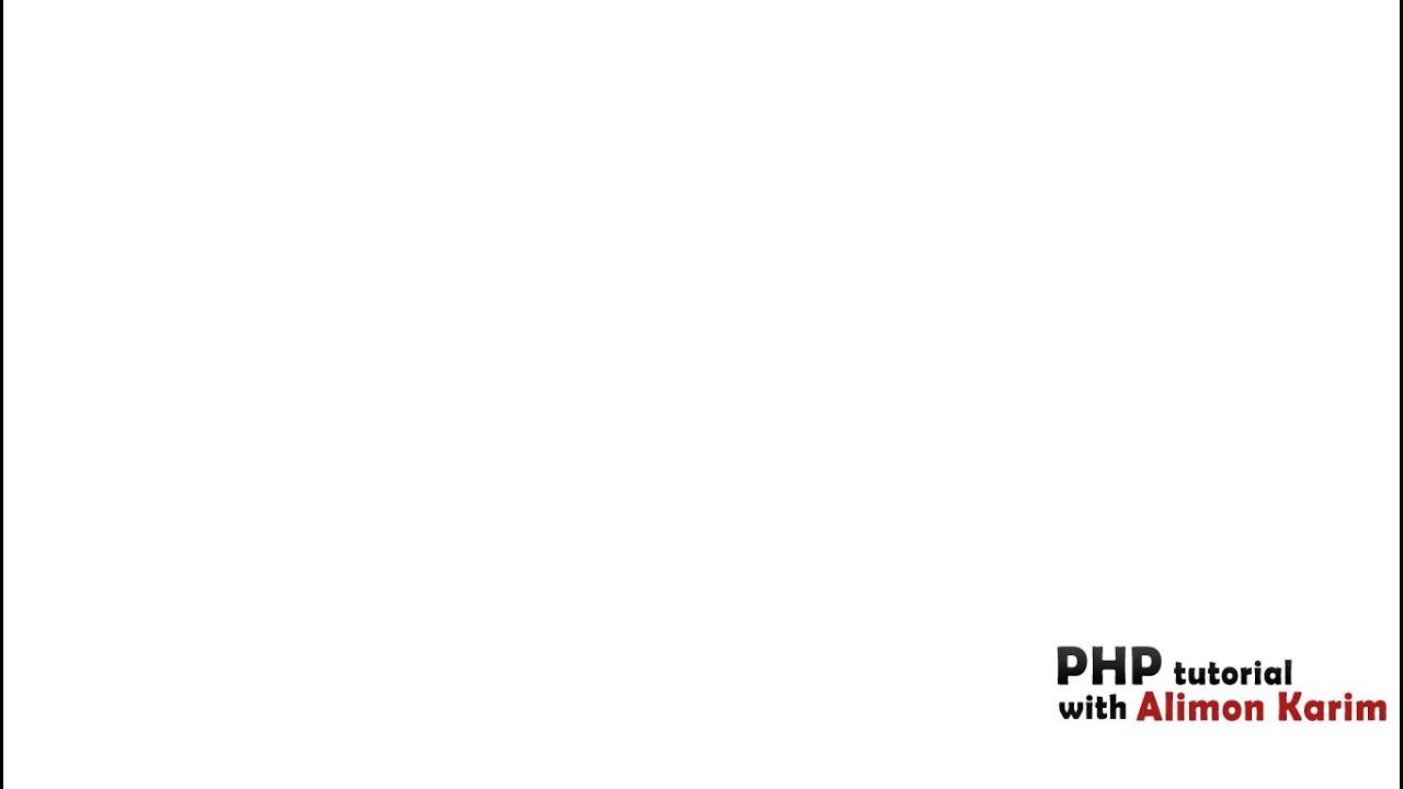 PHP Bangla tutorial#34(Notice: Undefined variable problem solve )(isset & global)
