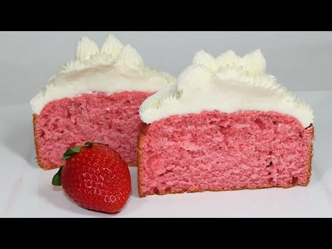 Strawberry Cake Recipe: How to make a homemade strawberry cake from scratch