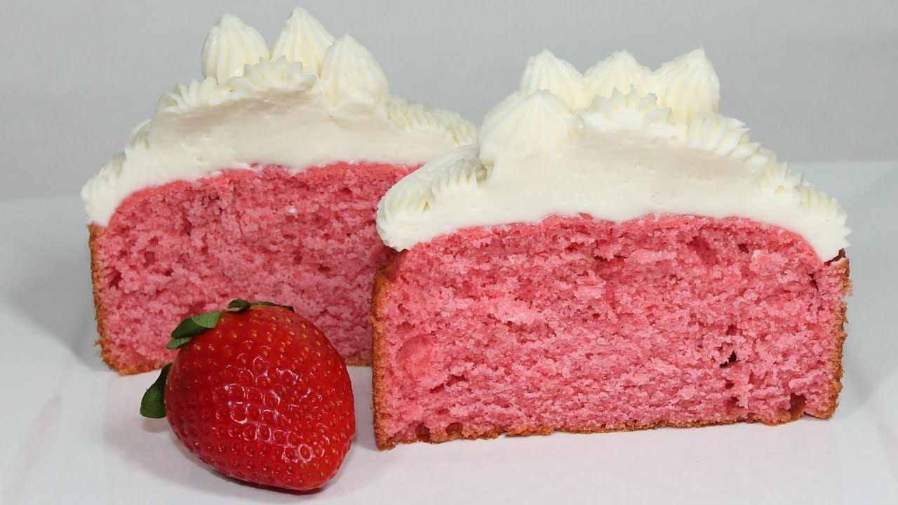 Strawberry Cake Recipe How To Make A Homemade Strawberry Cake From