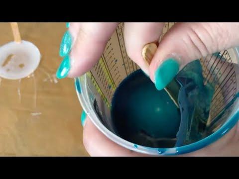 58   ASMR Resin Peeling   6 Satisfying Cleaning Resin Sensory