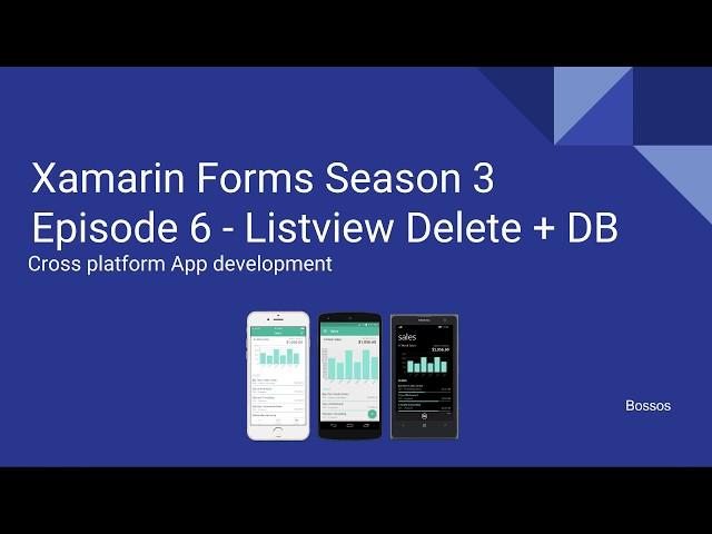 Xamarin Tutorial Season 3 Episode 6 Listview Delete, SQLite