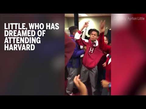 Watch this 16-year-old's reaction when he finds out he was accepted to Harvard