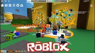 Harvest Honey Again the goods Beaconcream!!! | Roblox Bee Swarn Simulator