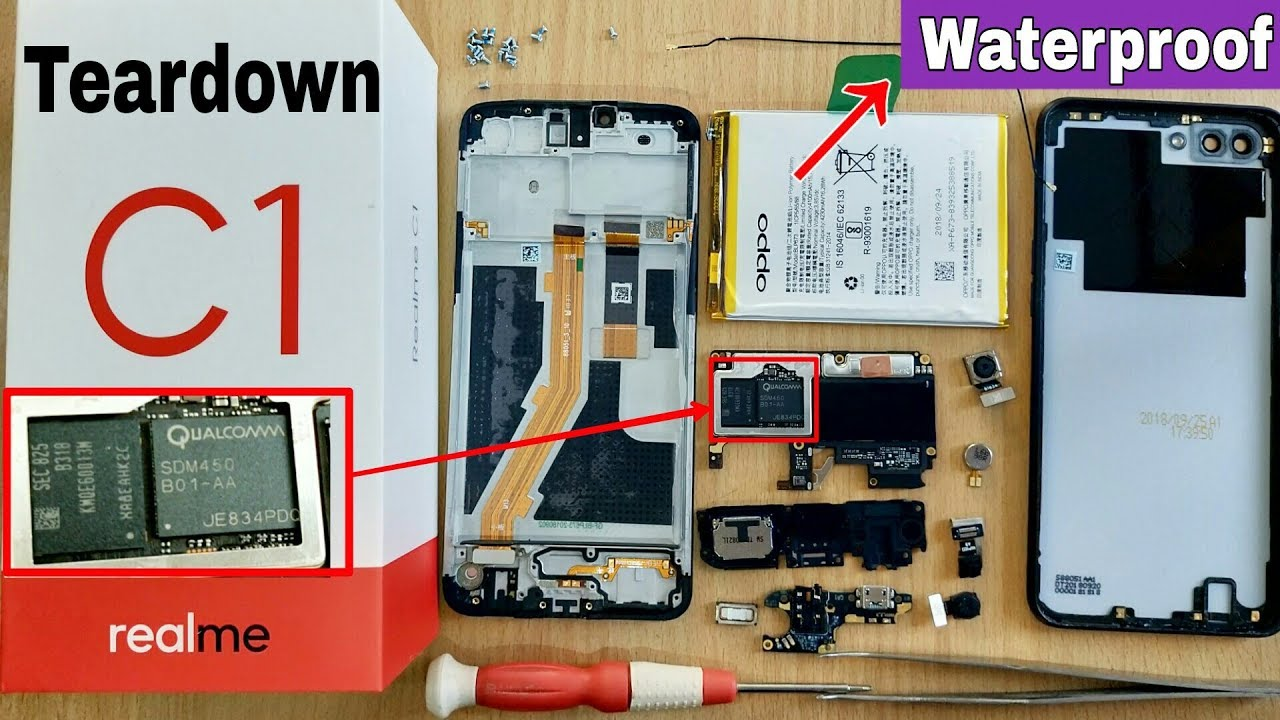 Realme C1 Teardown & Disassemble | How to Replace Battery Realme C1 |  Waterproof Realme C1 yes/no