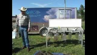 usda nrcs south dakota rainfall simulator range demonstration