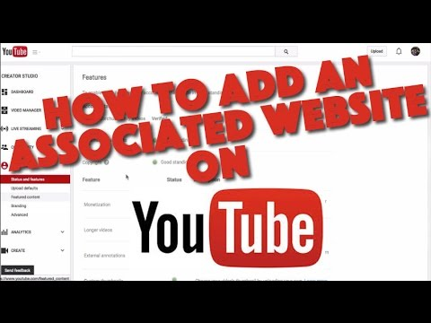 How To Add An Associated Website To Your Youtube Channel