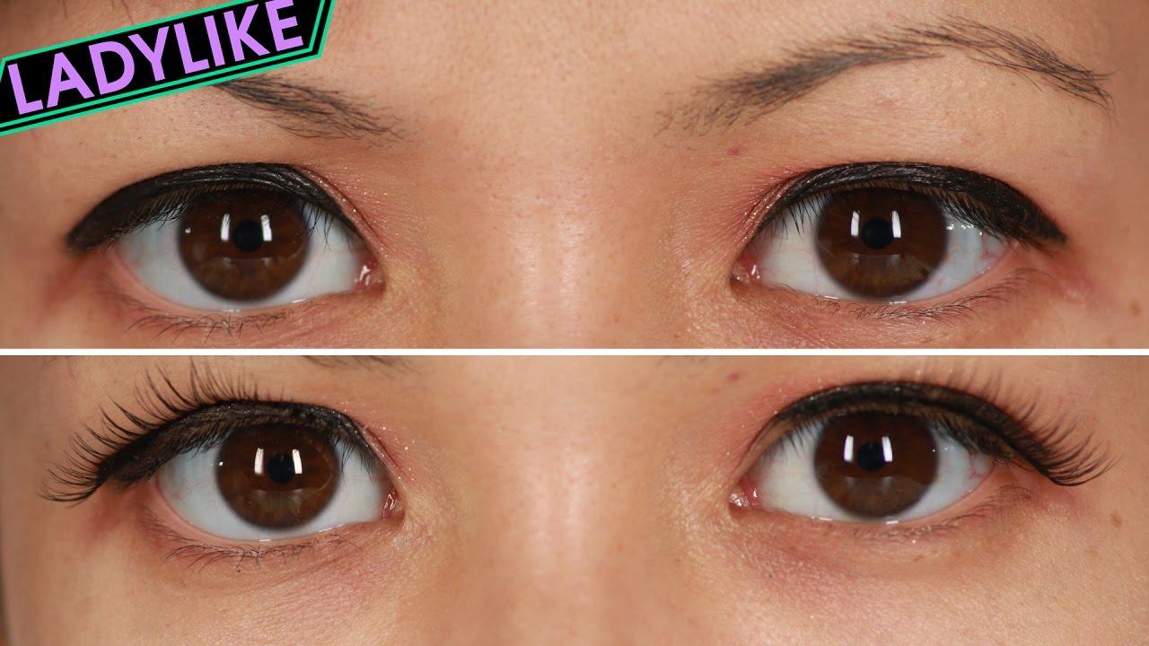 052d9cb21bc Women Wear False Eyelashes For A Day • Ladylike - YouTube