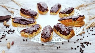 Эклеры с масляным кремом и шоколадной помадкой - Рецепты от Со Вкусом