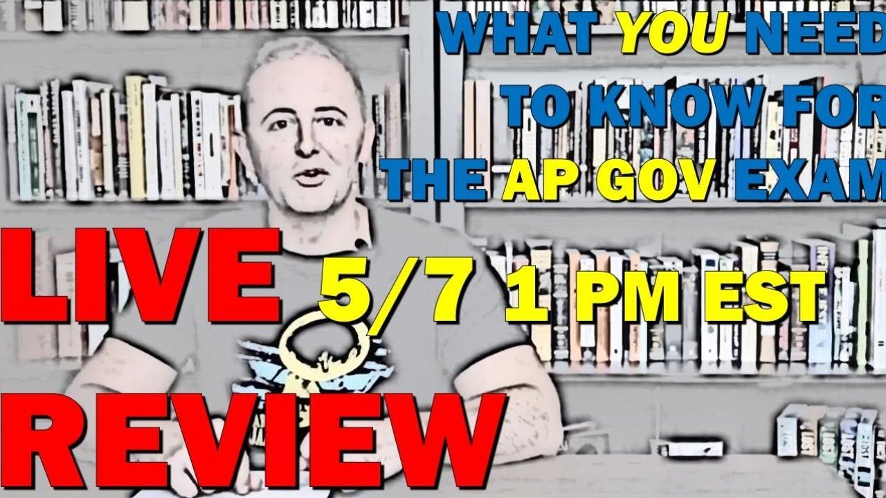 AP Gov LIVE Review 5/7/20 1 PM EST