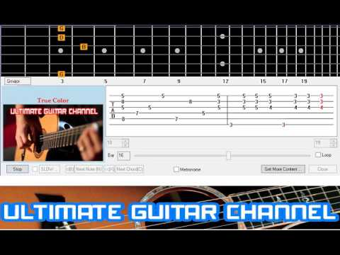 Guitar Solo Tab True Color Cyndi Lauper Youtube