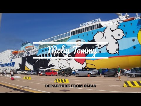 "Departure Of Ferry ""Moby Tommy"" Of Olbia 