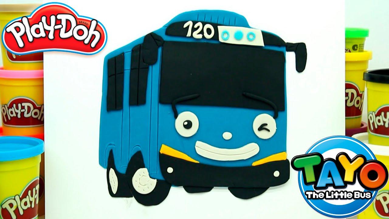 ТАЙО: Лепим из Пластилина Плей До маленький автобус Тайо ...
