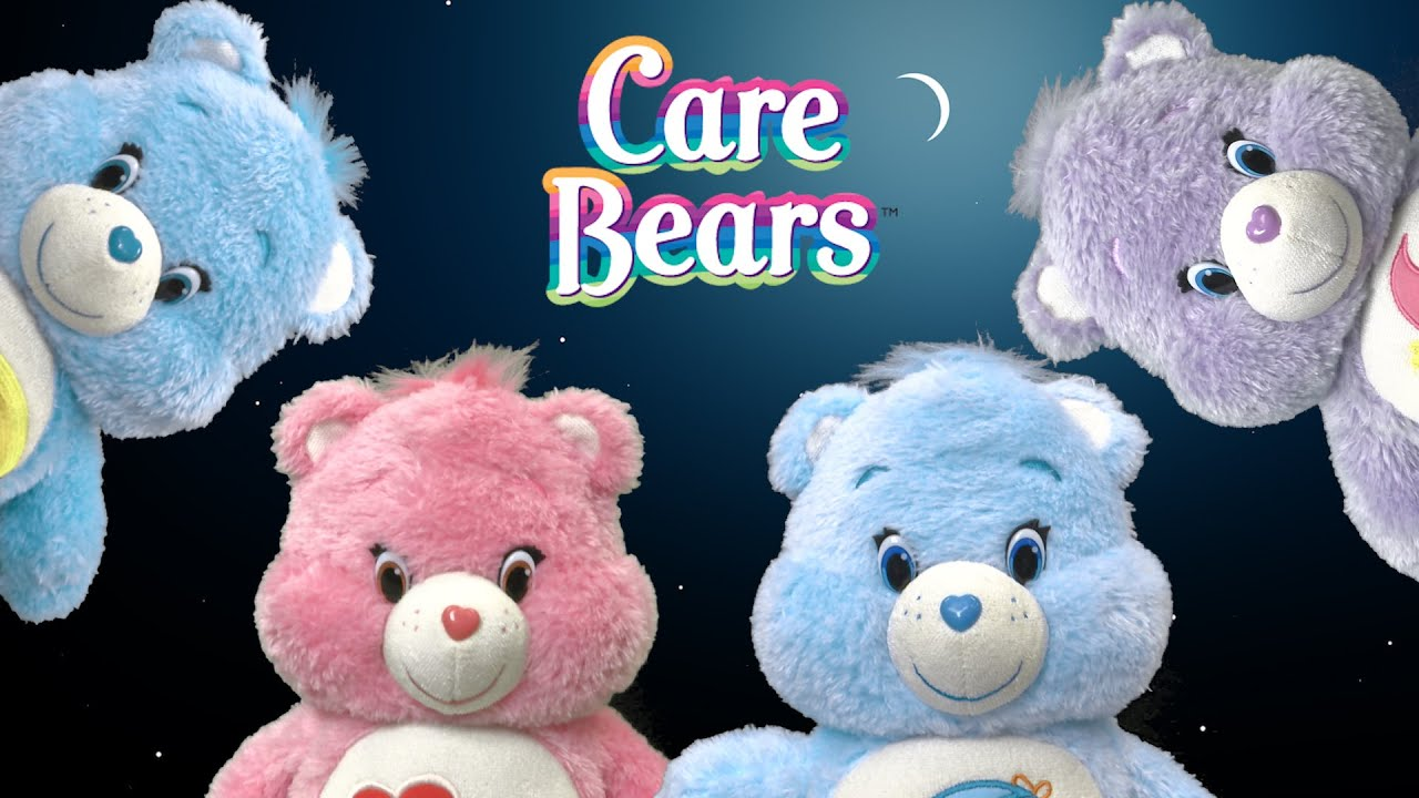 Message Recorder Stuffed Animals, Glow A Lot Care Bears From Just Play Youtube