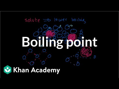 Boiling point elevation and freezing point depression | Chemistry | Khan Academy