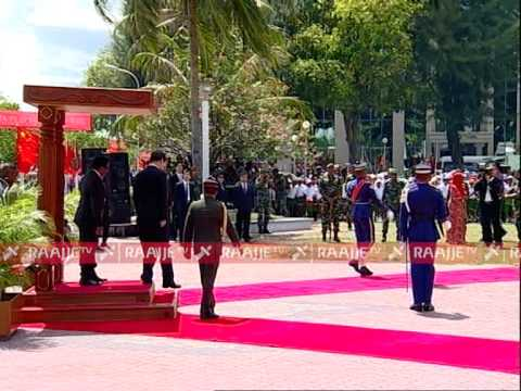 Chinese President arrival to Male Maldives