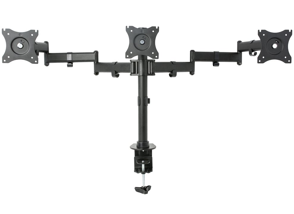 """VIVO Dual LCD LED Monitor Desk Mount Stand Fully Adjustable 2 Screens up to 27/"""""""
