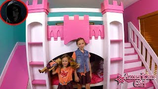 Game Master Hacks Our Channel Princess Castle Bed Room Tour New American Girl Doll