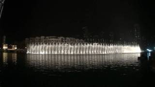 Burj Dubai Khalifa Fountain in HD. 'Shik Shak Shok'
