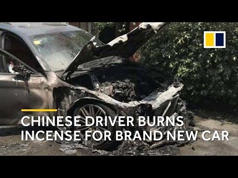 New BMW catches fire after owner burns incense for good luck