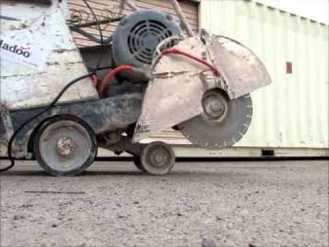 Sold Meco 20e 220v Electric Concrete Floor Cutting Saw