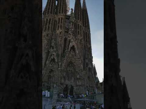 Barcelona, Spain - Cathedral designed by Architect Gaudi