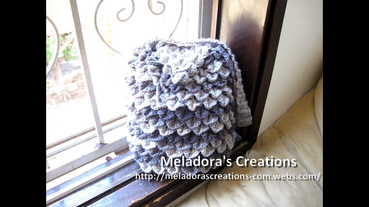 Crochet Backpack Purse : Crocodile Stitch Draw Bag - Crochet Tutorial - YouTube