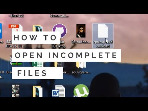 How to open incomplete downloaded files | How to open. crdownload files| Open failed downloads- ZFC
