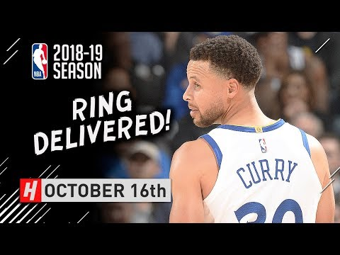 Stephen Curry Full Highlights Warriors vs Thunder 2018.10.16  32 Pts, 8 Ast, 8 Reb