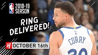 Stephen Curry Full Highlights Warriors vs Thunder 2018.10.16 - 32 Pts, 8 Ast, 8 Reb
