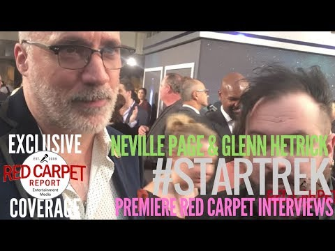 Neville Page & Glenn Hetrick interviewed at the premiere of Star Trek: Discovery on CBS