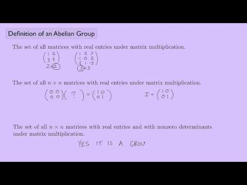 (Abstract Algebra 1) Definition of an Abelian Group