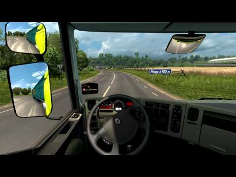 Euro Truck - Freight transport from Paris to Amsterdam very realistic travel wonderful.