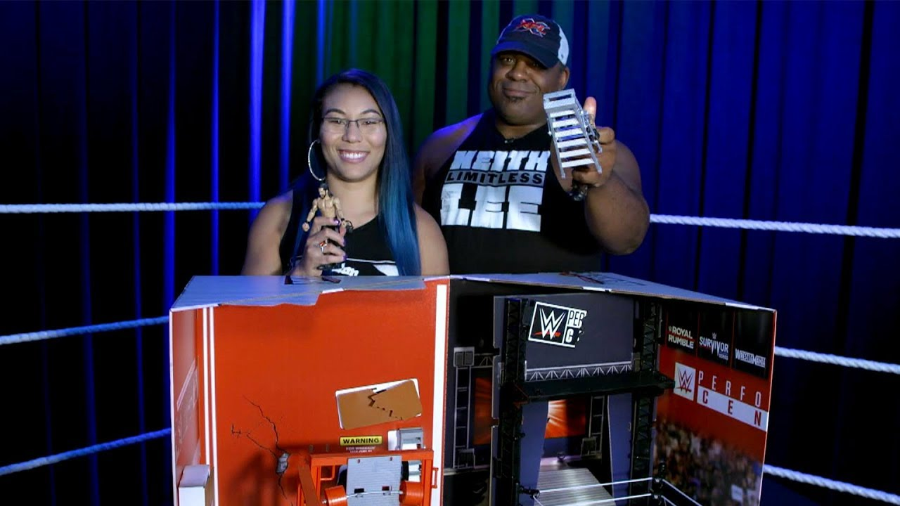 Mia Yim And Keith Lee Unbox The Wwe Wrekkin Performance Center From Mattel Youtube