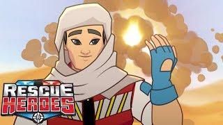 Rescue Heroes™ - Rescue In The Desert | Episode 12 | Kids Videos | Kids Heroes | Cartoon Heroes