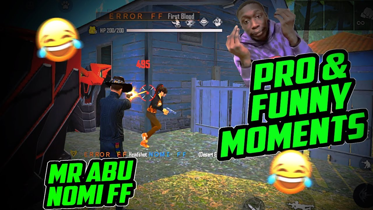Best pro & funny moments of MR ABU & Nomi ff against 4 pro pc players, free fire Pakistan