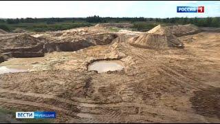 При строительстве дороги М12 будут использовать песок из Шумерлинского района