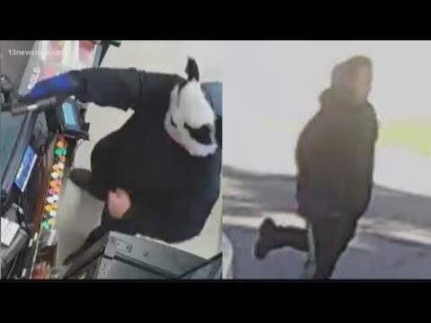 Armed man in Panda mask holds up gas station